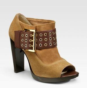 Michael Michael Kors Peep Toe Ankle Boots